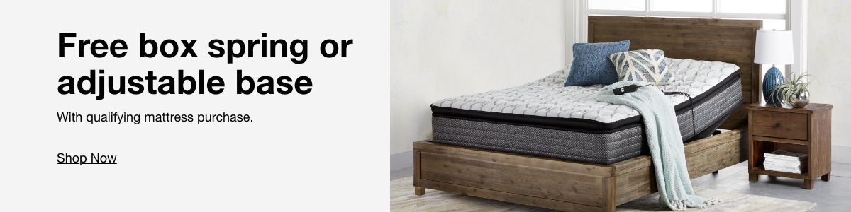 Free box spring or adjustable base, Shop Now