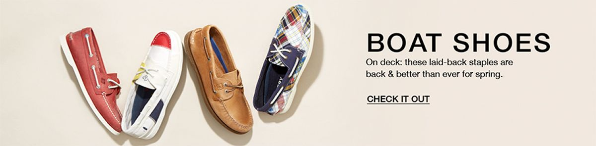 Boat Shoes, On deck: these laid-back staples are back and better than ever for spring, Check it Out