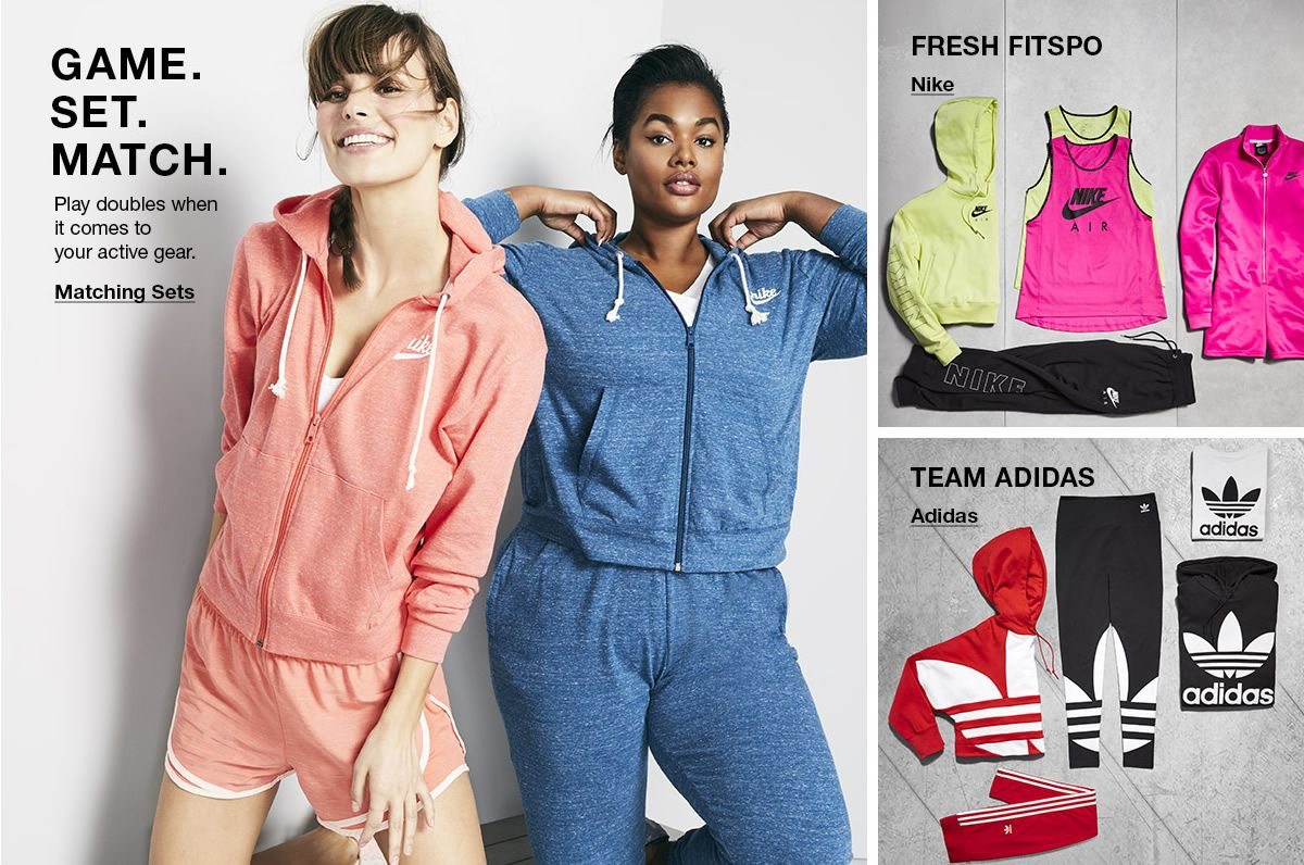 Game Set Match, Matching Sets, Fresh Fitspo, Nike, Team Adidas, Adidas