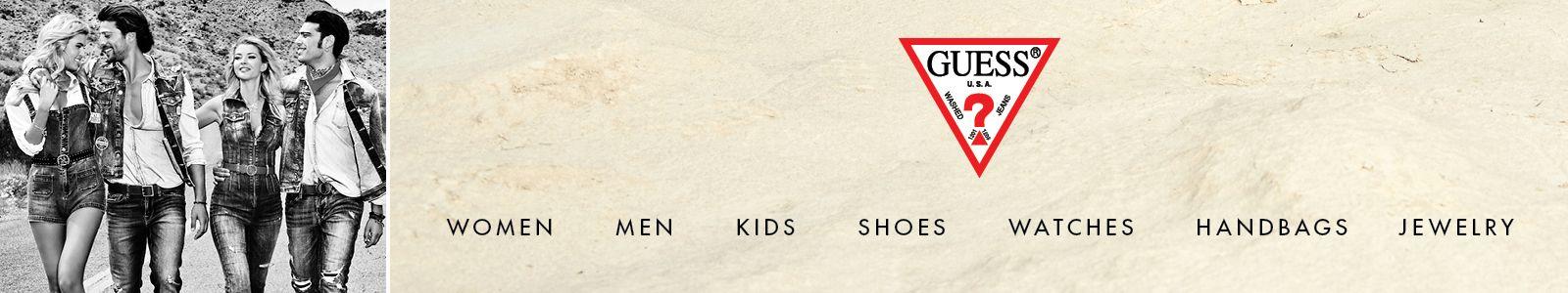 Guess, Women, Men, Kids, Shoes, Watches, Handbags, Jewelry