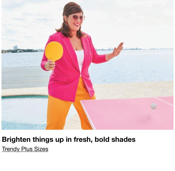 Brighten things up in fresh, bold shades, Trendy Plus Sizes
