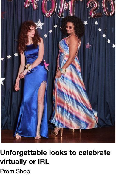 Unforgettable looks to celebrate virtually or IRL, Prom Shop