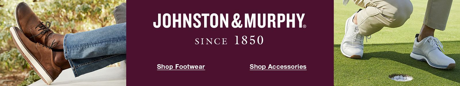Johnston and Murphy, Since 1850, Shop Footwear, Shop Accessories