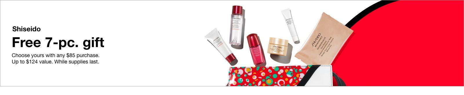 Shiseido, Free 7-pc, gift