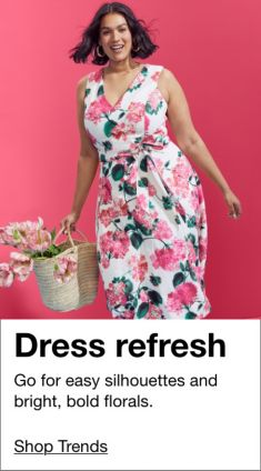 Dress refresh, Go for easy silhouetted and bright, bold florals