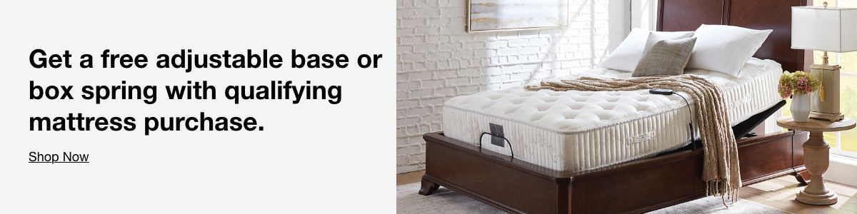 Get a free adjustable base or box spring with qualifying mattress purchase