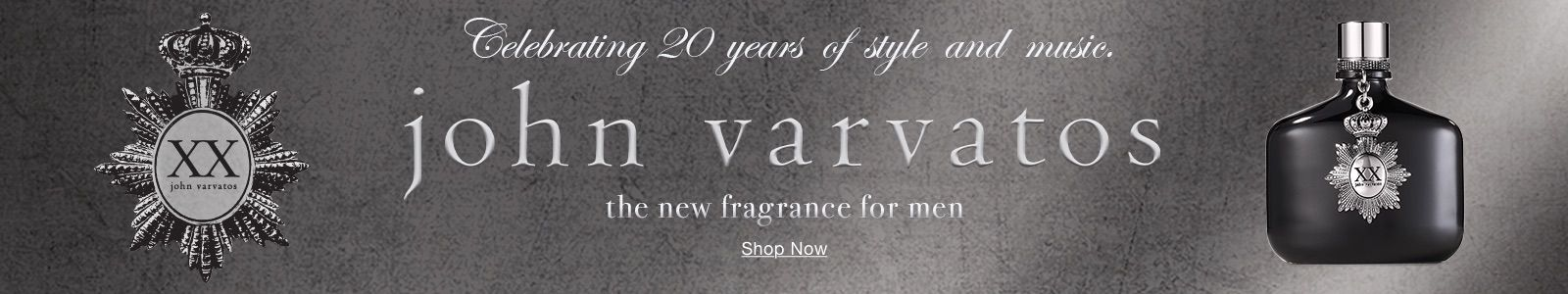 Celebrating 20 years of style and music, john varvatos, the new fragrance for men, Shop Now