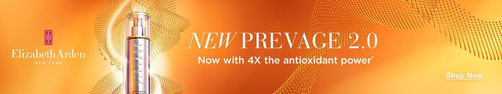 Elizabeth Arden, New York, New Prevage 2.0, Now with 4X the antioxidant power