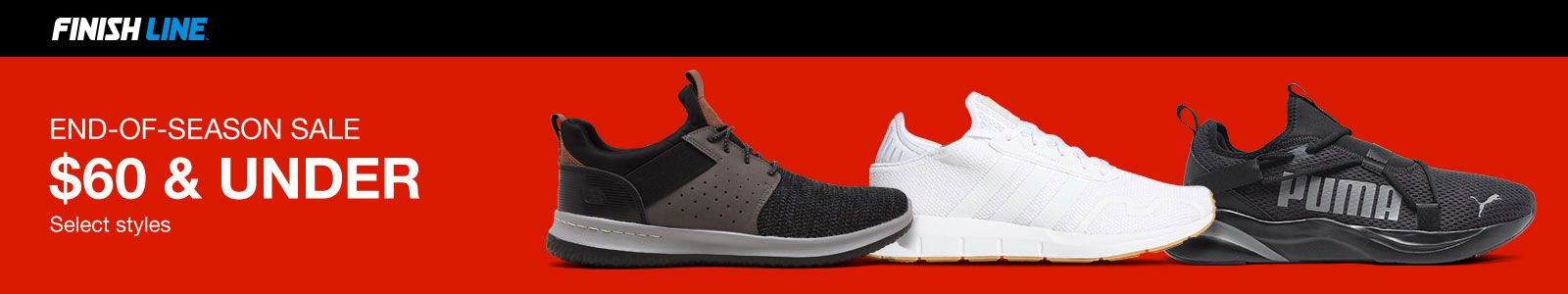 Finish Line, End-Of-Season Sale, $60 and Under, Select styles