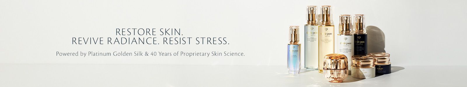 Restore Skin,, Revive Radiance, Resist Stress