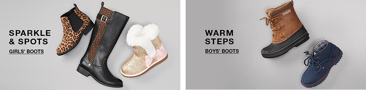 Sparkle and Sports, Girls' Boots, Warm Steps, Boys' Boots