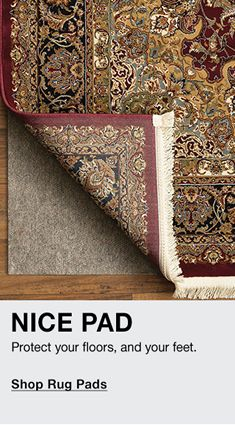 Nice Pad, protect your floors, and your feet, Shop Rug Pads