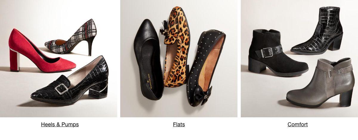 Heels and Pumps, Flats, Comfort