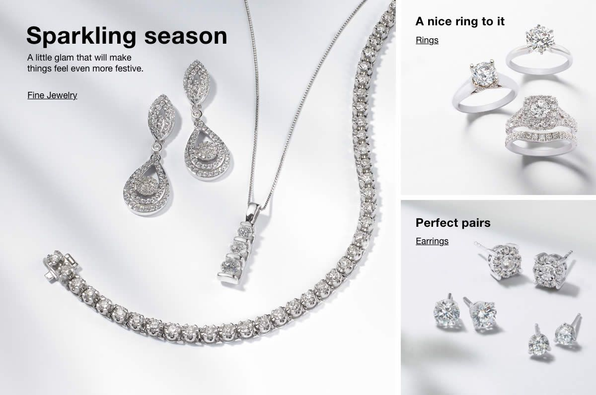 Sparking season, Fine Jewelry, a nice ring to it, Rings, Perfect pairs, Earrings