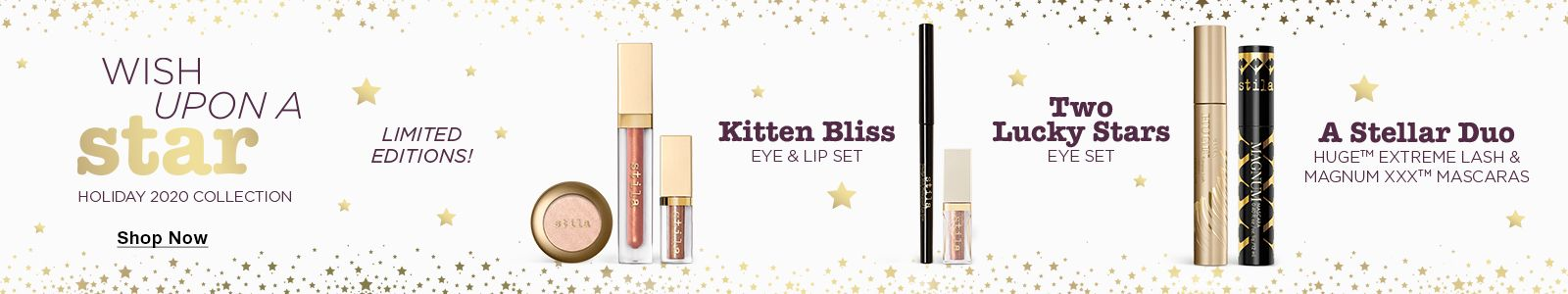Wish Upon a Star, Shop Now, Limited Editions, Kitten Bliss, Eye and Lip Set, Two Lucky Stars, Eye Set, A Stellar Duo