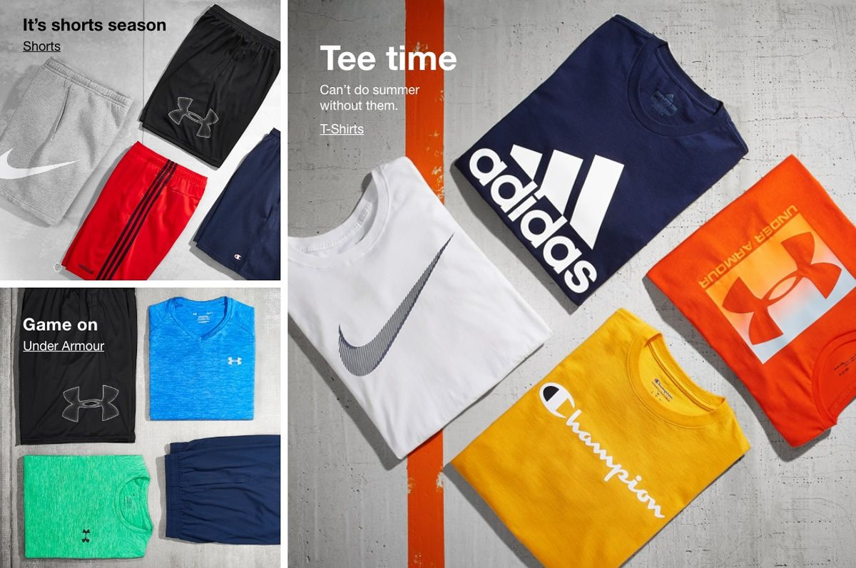 It's shorts season, Shorts, Game on, Under Armour, Tee time, Can't do summer without them, T-Shirts