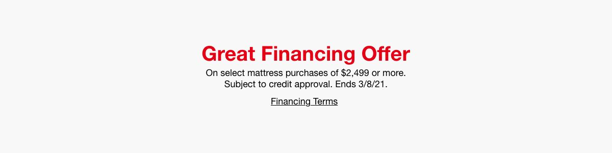 Great Financing Offer, Financing Terms