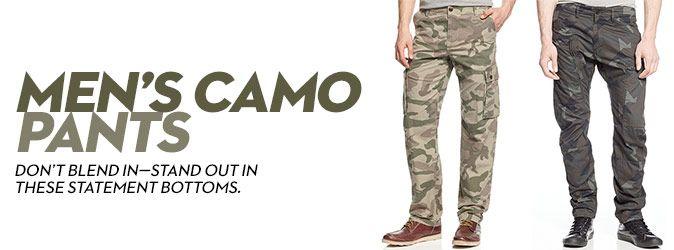 Mens Camo Pants